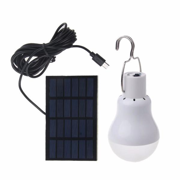 Solar panel LED bulb Lamp Equivalent 15w Solar Power 130lm Light Outdoor Lamp Spotlight Garden Light
