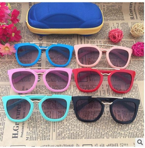 Cat Eye Sunglasses Children Retro #2906 Sun Glasses Kids Alloy Mirror Glasses For Children Boys Eyewear UV400
