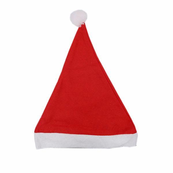 100pcs Christmas Ornaments Decorations Xmas Hats Santa Hats Children kids Boys Girls Cap For Party Props Costume Xmas Decor