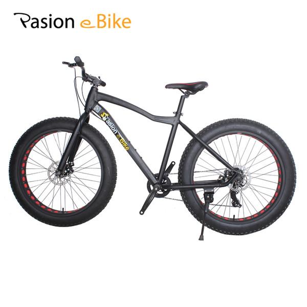 wholesale 7 speed Aluminium mountain bike black frame 26*4.0 fat tire bicycle bicicleta bikes with fender