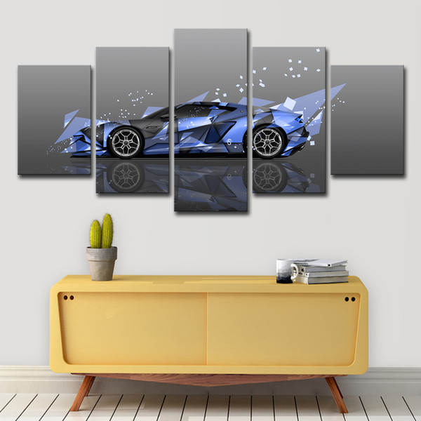 5PCS Modern Painting Picture Decoration 5 Pieces Sports Car Canvas Art Wall Decor For Living Room Printed On Canvas Wall Picture