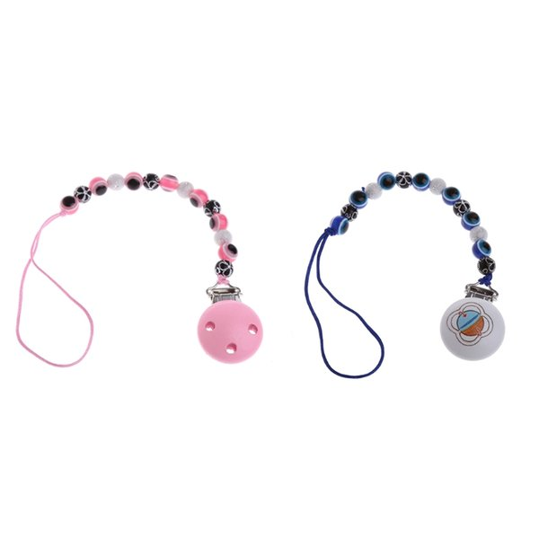 Blue Eye Baby Kids Pacifier Chain Clip Holders Dummy Soother Nipple Leash Strap Chupeta Pacifier Clips