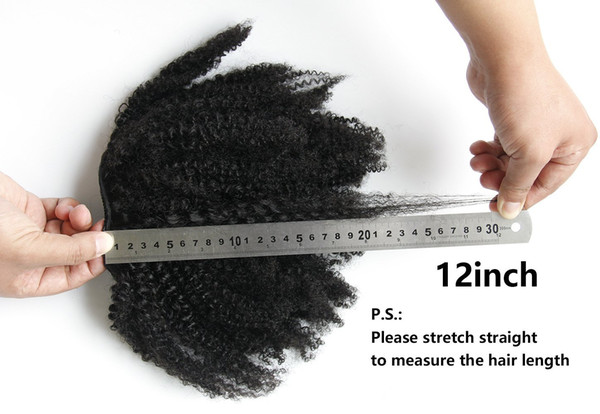 African American Afro Short High Ponytail Hair Extension