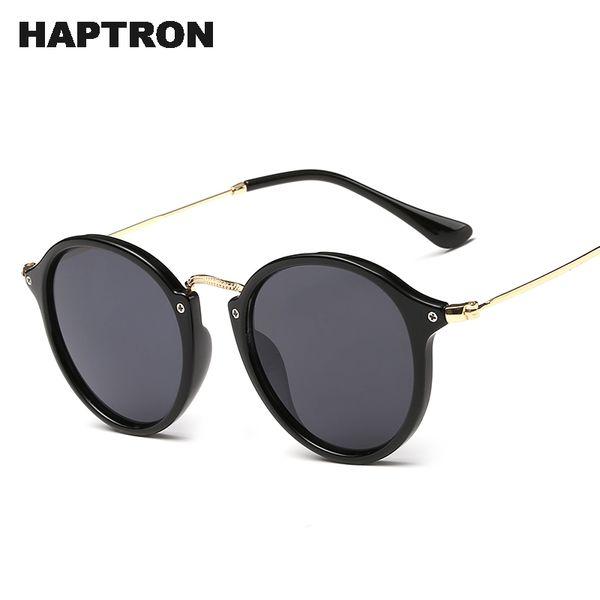 Retro Round Sunglasses Brand Designer Fashion Unisex Sun GlassesCoating Mirror Sunglasses Round Male Eyewear For Men/Women
