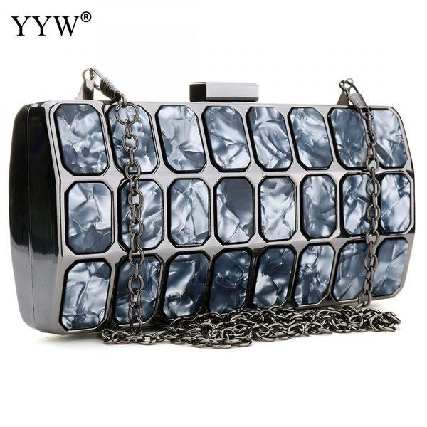 Patchwork Clutch Bags For Women 2018 Zinc Alloy Evening Bag Luxury Handbags Women Bags Designer Style Fashion Party Shoulder Bag