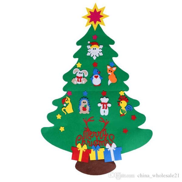 Toddler Christmas Tree.2017 New Kids Diy Felt Christmas Tree Set With Ornaments Children Gift Toddler Door Wall Hanging Preschool Craft Xmas Decoration Unusual Christmas