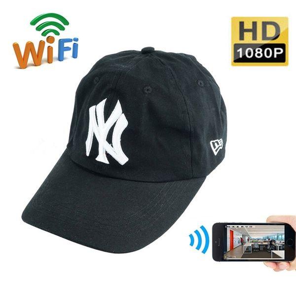 8GB/16GB/32GB1080P WI-FI Network Camera Wearable Wifi Hat Camera HD Mini Cap Camcorder Portable DV Camera Nanny Cam For IOS/Android PC View