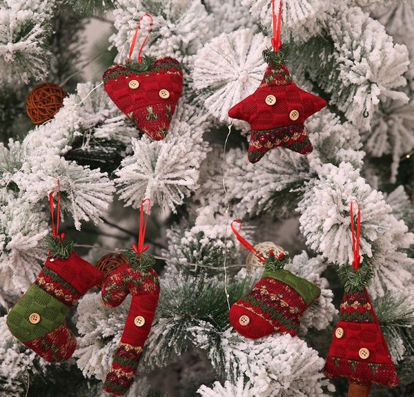 Candy Christmas Tree Decorations.Xmas Knitted Candy Cane Ornament Christmas Tree Pendant Drop Ornaments Decorations Mini Cane Stick Craft Star Xmas Tree Decor Decorate Christmas