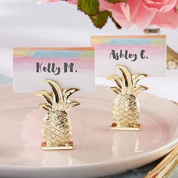 Hot style Gold Pineapple Place Card Holder Table Number Figure Stand Party Supplies Wedding Digital Seat Decor