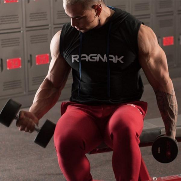 Erkekler Pamuk Hoodie Tişörtü Spor Giyim Vücut Geliştirme Tank Top Erkek Kolsuz Tees Gömlek Casual Altınları Yelek