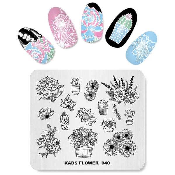 Hot Sale 1pc Nail Art Stamping Template Image Plate Nail Art Stamp Stamping Stainless Steel Stamp Plate New Style