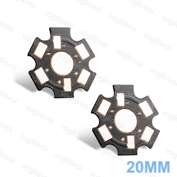 Kühlkörper-Aluminiumunterseite LED PCB 20MM 1W 3W für Birnen-Scheinwerfer-Aluminiumplatte silbriges Schwarzes Stärke 1.5MM EPACKET