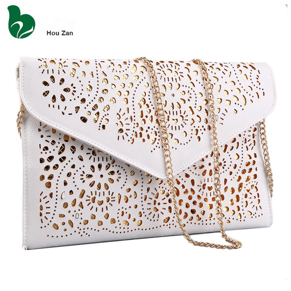 2019 Fashion Hollow Out Chain Shoulder Crossbody Day Clutch Women Messenger Bags Ladies Handbags Bolsas Femininas Sac A Main Femme De Marque