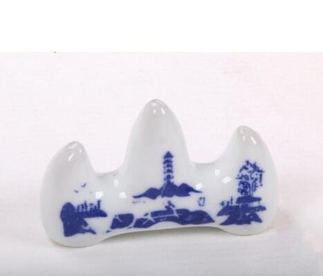 Pinceles de pintura de caligrafía Pen Pen Holder Office Decor Ceramic Stand Rest