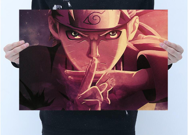 best selling Free shipping hot high quality Brown Poster Uzumaki Naruto Hokage and Mural for your home and business brown paper about 50*35cm