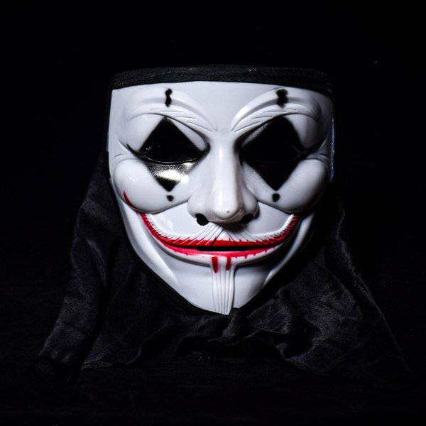 Vendetta Cadılar Bayramı Korku Maskesi Palyaço Için En Çok Satan Hayalet Kafa Sahne Sokak Dans Yetişkin PVC Maske