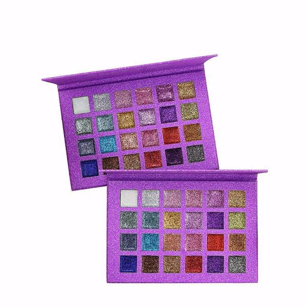 Venda quente 24 Cores Metálicas Paleta Da Sombra de Maquiagem Beleza DiamondShiny Lantejoulas Shimmer Sombra Maquiagem Cosméticos Pigmento