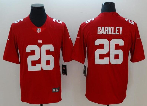 best website 1f582 aeba3 26 Saquon Barkley Jersey 13 Odell Beckham Jr Giants Landon Collins Teams  Color Pro Bowl Custom America Football Jersey Women Men Youth Kids T Shirts  ...