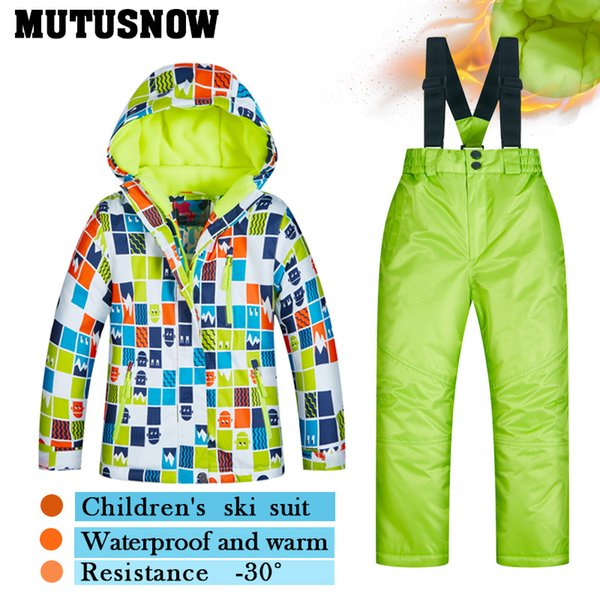 48eb4ae25a74 2019 2018 Children S Ski Wear Children S Windproof Waterproof Warm ...