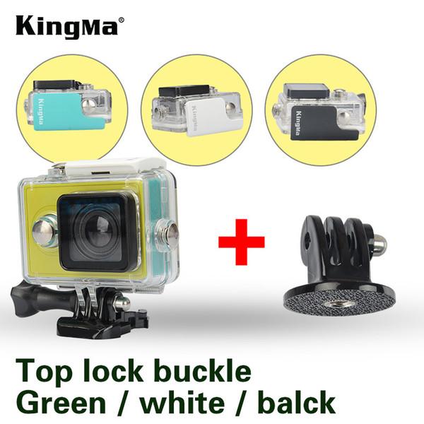 KingMa Orijinal Xiaomi Yi 1 için Su Geçirmez Kılıf Mi Yi 40 M Dalış Spor Su Geçirmez Kutu Yi Eylem Kamera aksesoris Aksesua ...