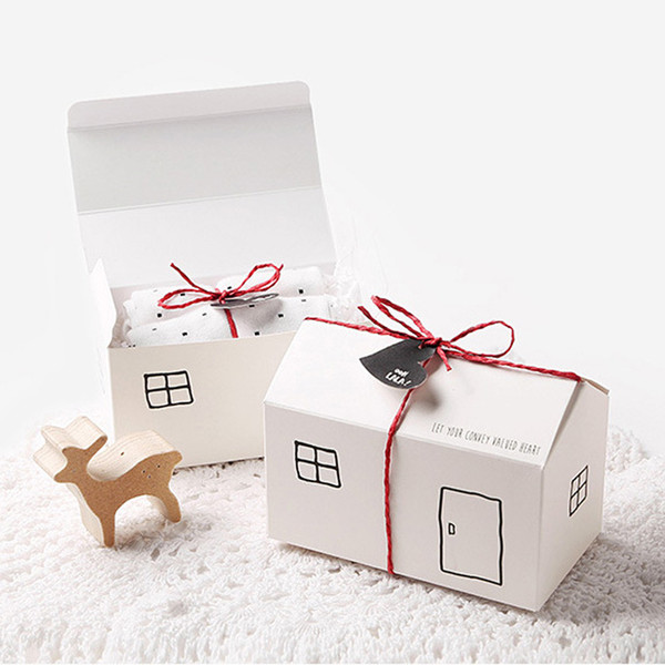 paper box/carton house design for cookies/gift/baking/chocolate/party/fesiival packing 2 colour for your choice 20pcs/lot free shipping