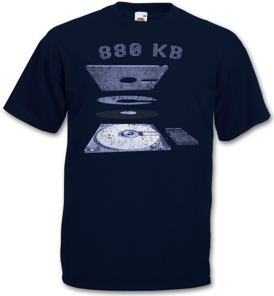 EXPLOSION 3.5 FLOPPY DISK T-SHIRT - Commodore Amiga 500 Diskette 880 KB T-Shirt