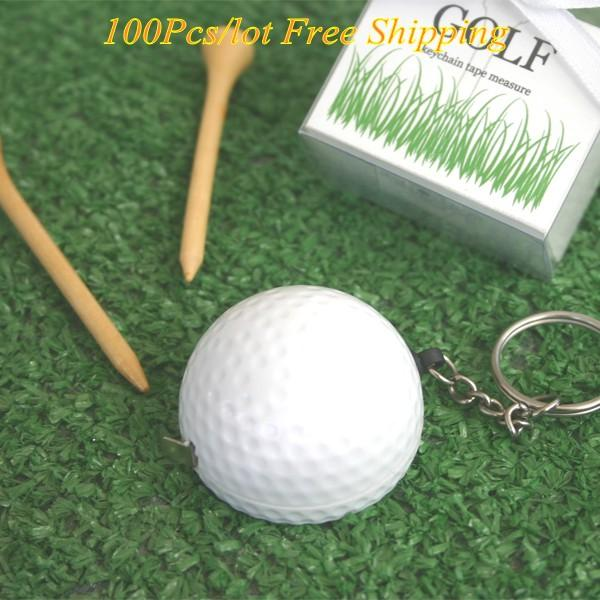(100Pcs/Lot) Sporty theme Wedding gift A Leisurely Game of Love Golf Ball Tape Measure Favors For Guests and Wedding Decorations