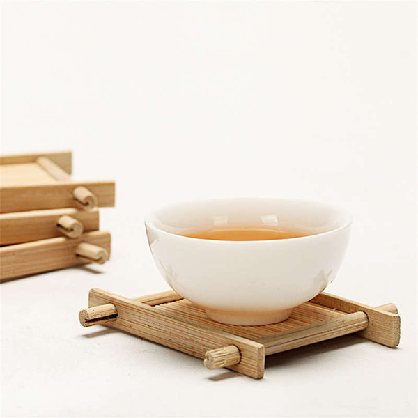Mini Handmade Bamboo Cup Mat Kung Fu Tea Accessories Table Placemats Coaster Drinks Kitchen Product Mug Pads