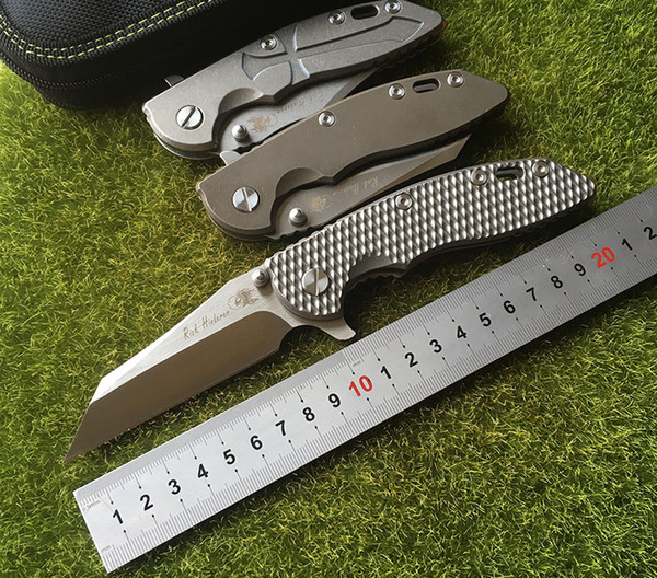 Идеальный Рик Hindererer пламени сжигания пользовательских XM-18 складной нож M390 стали титана обработки Боуи Флиппер тактический инструмент выживания EDC