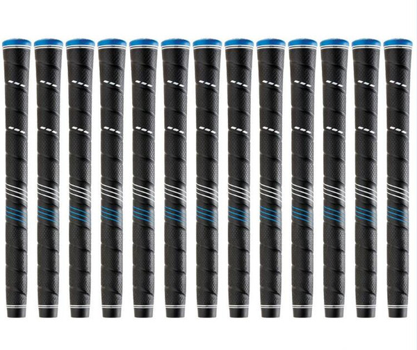 best selling NEW TPE Material Wrap Standard Midsize Golf Grip Blue Cap 13pcs lot Golf Irons and Woords Grips Free Shipping