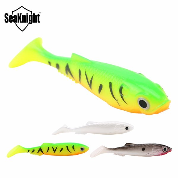 SeaKnight Brand SL001 Soft Fishing Lures 12PCS/Lot 6g 90mm 3 Colors Fishlike 3D Eyes T Tail Artificial Bait Lake River FishingY1883004