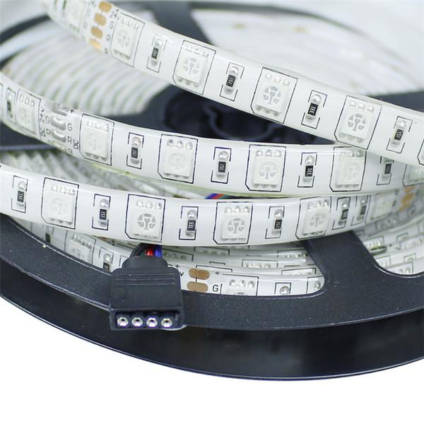RGB led şerit Işık 3528 5050 5630 Esnek Bant 12 V Sigara Su Geçirmez LED Şerit Kırmızı Yeşil Mavi LED tüp işık