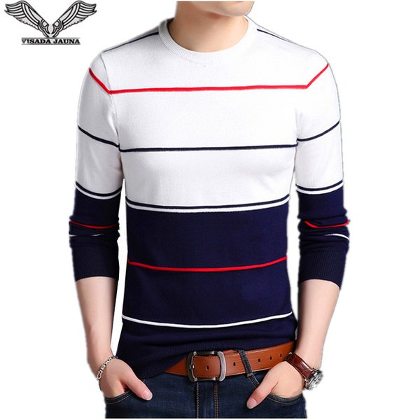 Visada Men O Compre Casual Sweater Jauna Moda 2017 Cuello Winter dwXUqA