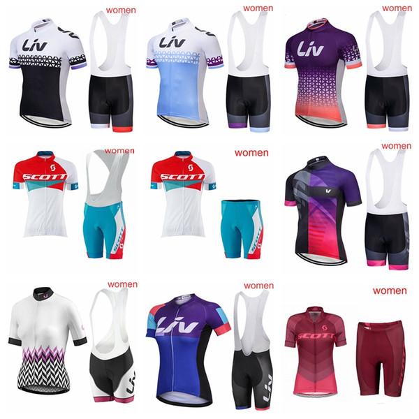 3b7dfd6c7711 Conjunto De Jersey De Ciclismo Para Mujer Scott Transpirable De Manga Corta  Liv Ropa De Ciclismo Ropa Ciclista Tour De France 2018 Ropa Ciclismo ...