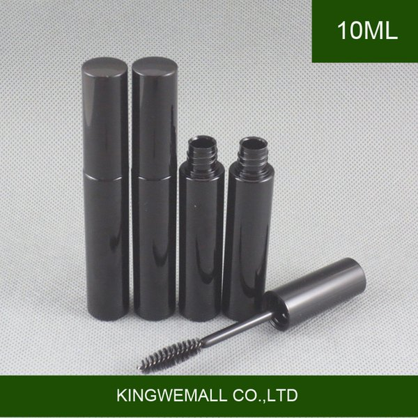 79d4a43e4b7 300pcs 10ml Empty Mascara Tube with Eyelash Cream Container Bottle &  Inserts Plastic PETG Black Cosmetic Container Makeup Vials