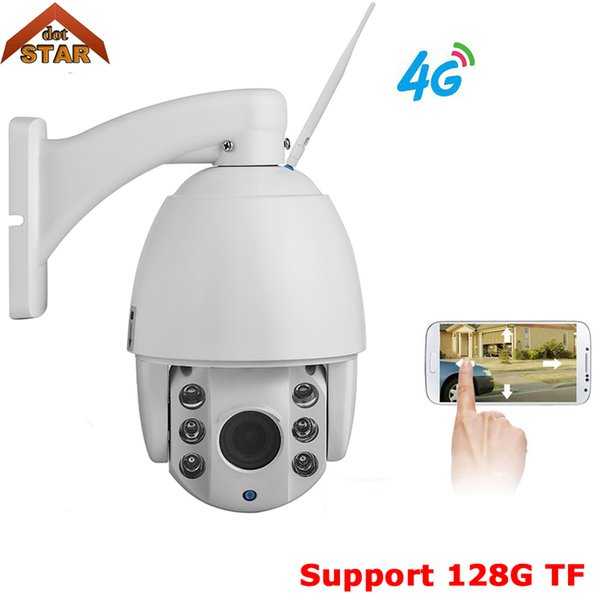 Stardot Wireless 4G camera ip Outdoor PTZ 1080P 4g 3G SIM card ptz speed dome ip camera 128G TF security surveillance camera