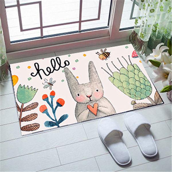 Bedroom Carpet Decoration For Room Cartoon Floor Mat In Living Room Kitchen Anti-slip Water Adsorption Foot Mat Bed For Bathroom Floor Mat