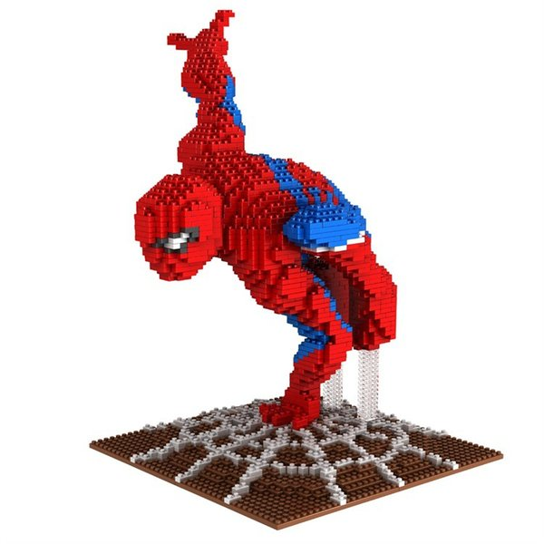 PZX 8830-4 Spider-Man Building Blocks Super Hero DIY Building Toys Thor Cute Assembly Children Toys Spiderman Auction Figures Kids Gifts