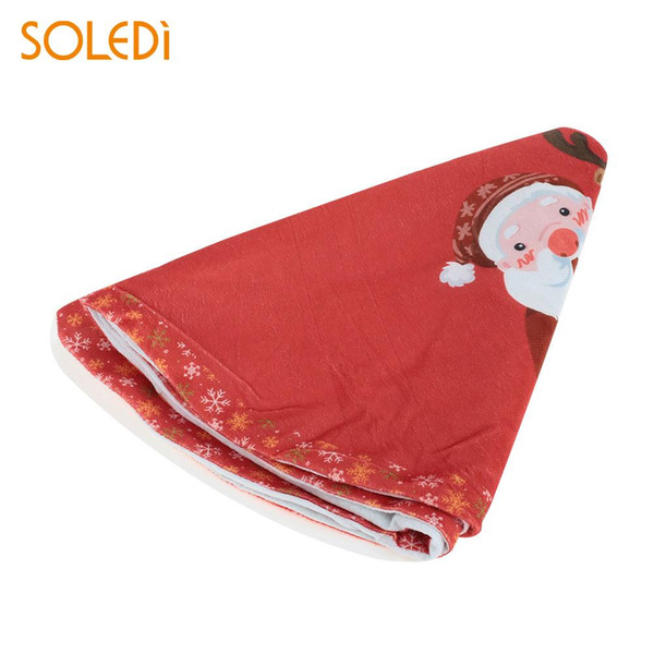 Christmas Tree Stand Christmas Tree Dress Soft Christmas Tree Skirt Floor Mat Polyester Home Decoration 90cm Beautiful