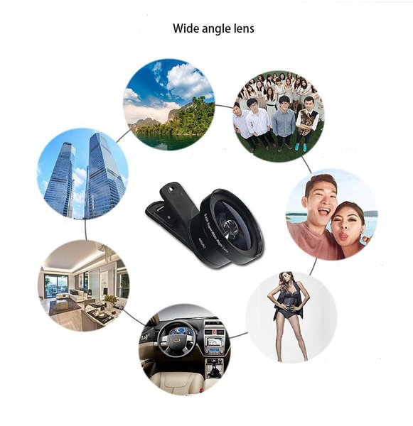 Promotional universal mobile phone external camera lens set without distortion wide-angle macro lens CPL star ND8 filter 5 in 1 set