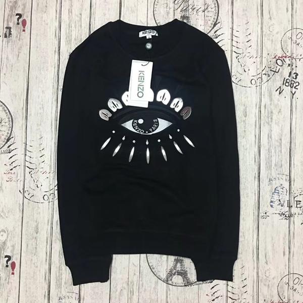 2019 fleece eye Tiger Head Embroidered Men Women Sweatshirts Cotton Autumn Winter Unisex Hoodies Casual Streetwear Jogger Tracksuit