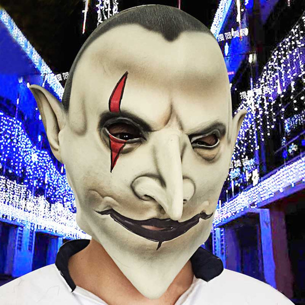 Horror Devils Latex Scary Mask Earl of Hell Full Face Halloween Masquerade Mascara Terror Cosplay Party Props