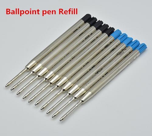 Promoções-10 pcs de Alta qualidade preto / azul 0.7mm mb caneta esferográfica recargas escola papelaria papelaria ball canetas ccessories cartucho de tinta
