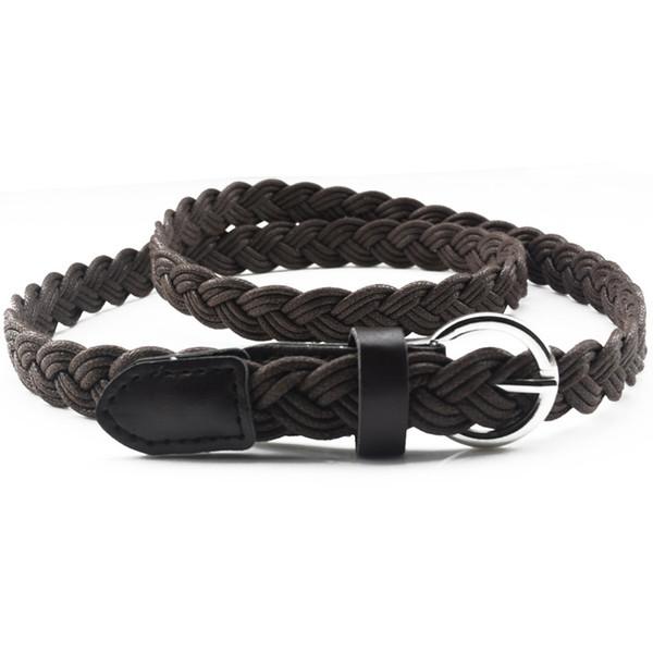 250PCS/LOT Women belt Handwork Braid Polyester Leather Belt Metal Buckle Female Lose Weight Waist Belt