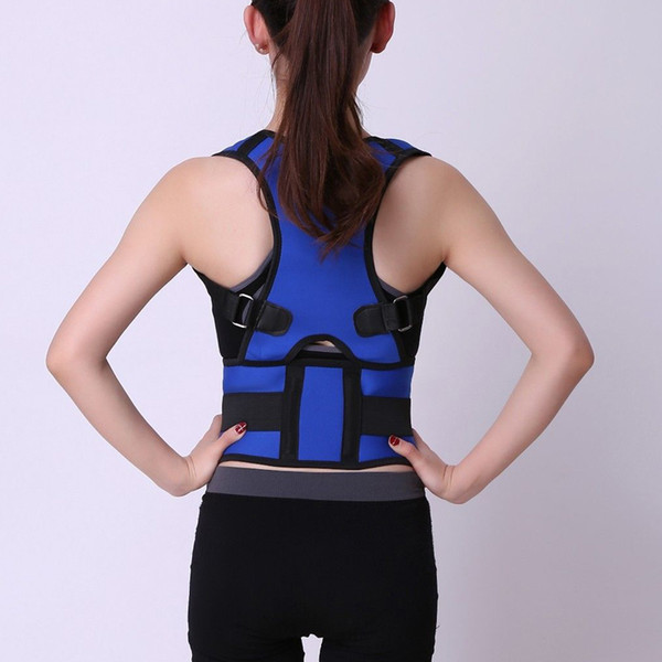 Neoprene support column belt for men women corset back brace straightener shoulder posture corrector magnetic back belt