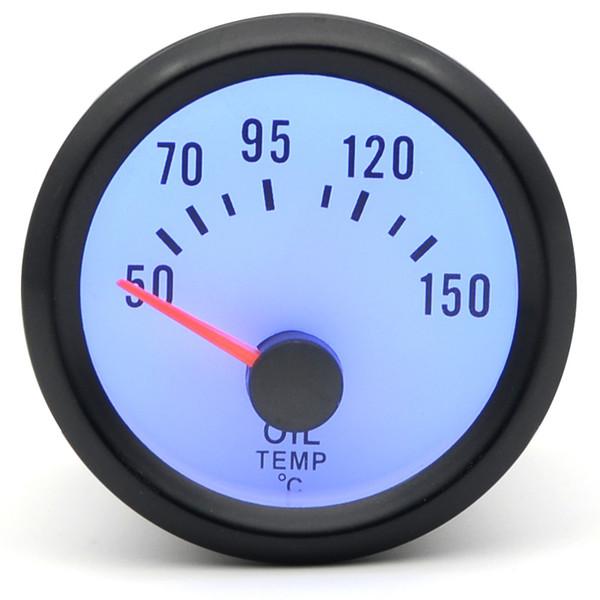 2 inch 52mm Dragon Gauge Car Meter Oil Temp Temperature Gauge 50-150 C Analog Black Case With Blue LED