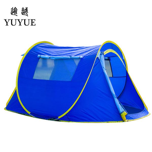 Trois saisons touristique Pop Up Tente Grand Espace Tente de Camping Ultra-Léger Étanche Personnalisé Une Chambre Randonnée En Plein Air