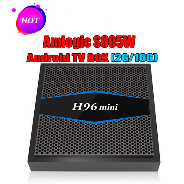 Newest H96 mini Android 7.1 Amlogic S905W Quad Core 2GB 16GB ROM BT4.0 H.265 HEVC 4K&2K android tv box 1080P HD media Player
