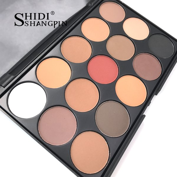 15 Colors Eyeshadow Palettes Gorgeous Silky Powder Professional Nature Makeup Palette Smoky Warm Matte Shining Eye Shadow E01