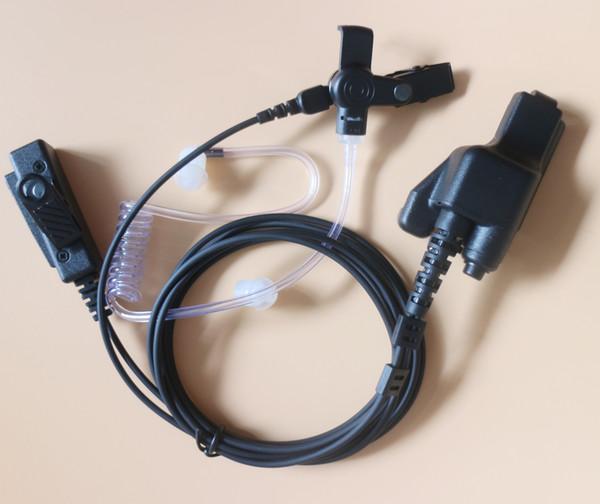 10XFBI Style Covert Acoustic Tube Auricolare Auricolare PTT Mic per Motorola Walkie Talkie Radio a 2 vie MT1500 MT2000 MTS2000 XTS5000